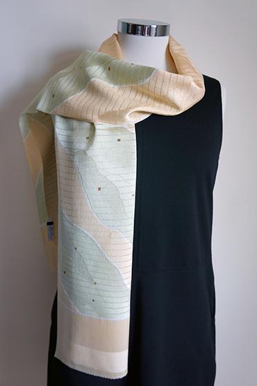 Light orange silk scarf