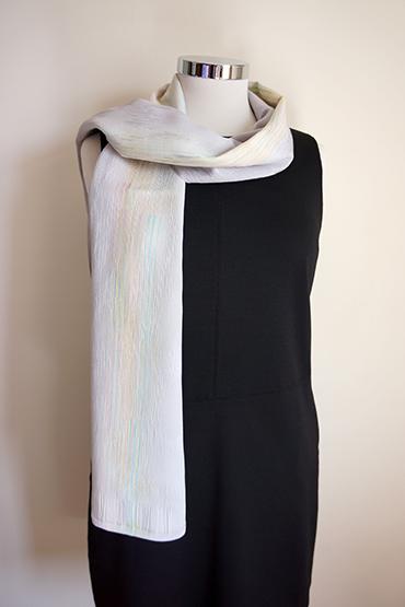 Pale grey silk scarf