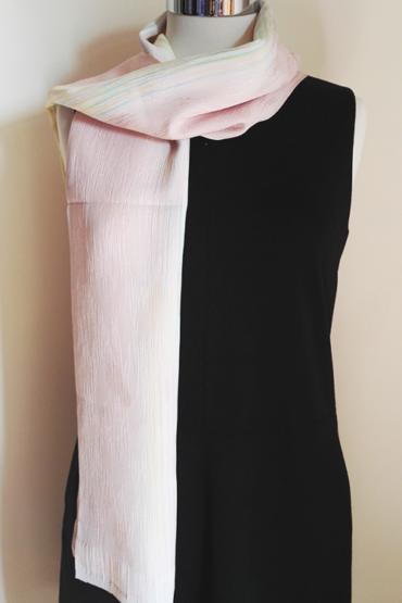 Pale pink silk scarf