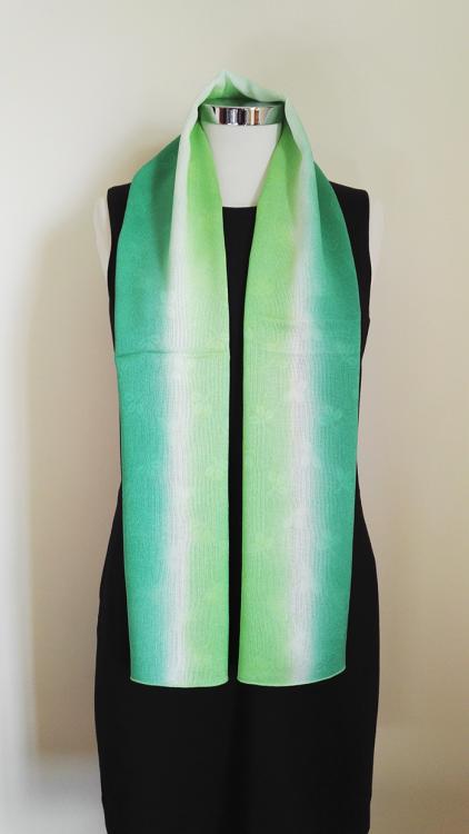 Shamrock-Green-Gradation-Silk-Scarf-a