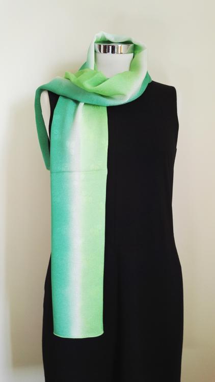 Shamrock-Green-Gradation-Silk-Scarf-aa