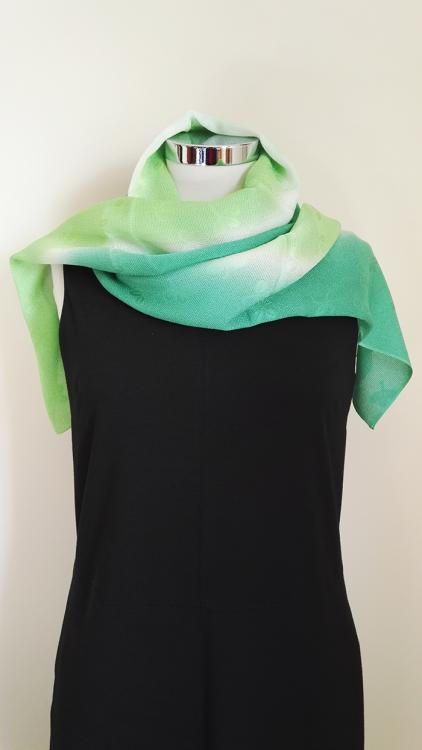Shamrock-Green-Gradation-Silk-Scarf-aaa