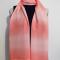 Coral gradation scarf