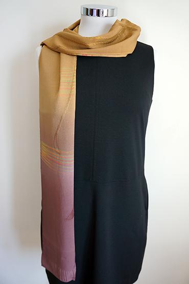 Gradation color silk mustard
