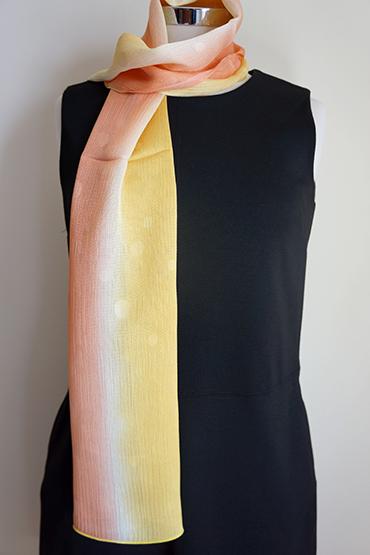 Marigold gradation silk scarf