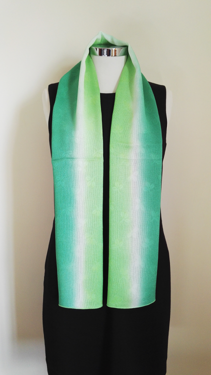 Shamrock-Green-Gradation-Silk-Scarf-a
