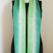 Shamrock Green Gradation Silk Scarf