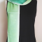 Shamrock green gradation silk scarf