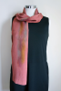 Shiny rosy red silk scarf