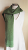Silk scarf with tiny flowers green