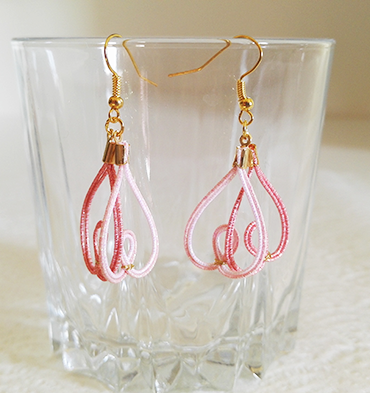 Mizuhiki-earrings-heart-pink