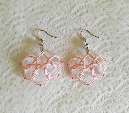 Mizuhiki-earrings-round-pink