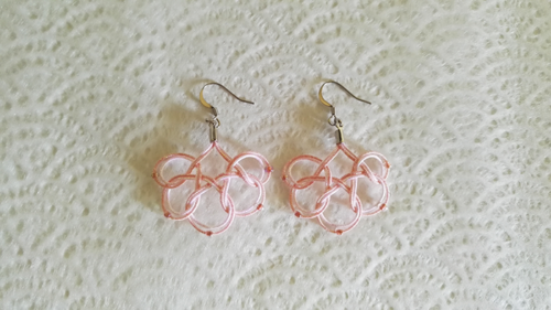 Mizuhiki-earrings-round-pink
