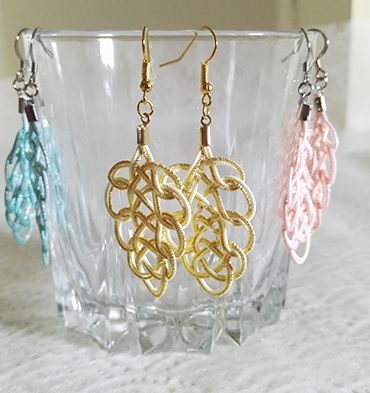 Mizuhiki-earrings-gold