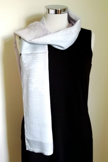 Japanese silk scarf blue purple