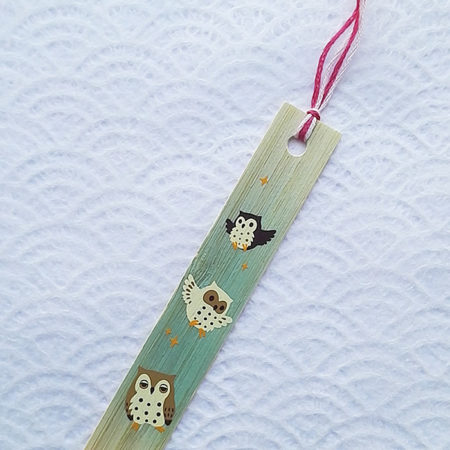 Bamboo-bookmark-owls