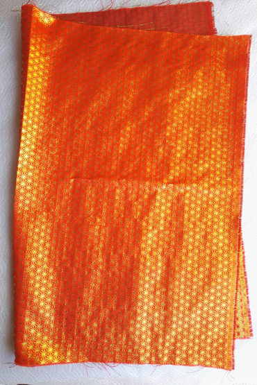 Japanese-traditional-fabric-orange