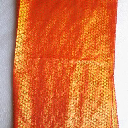 Japanese-traditional-fabric-orange