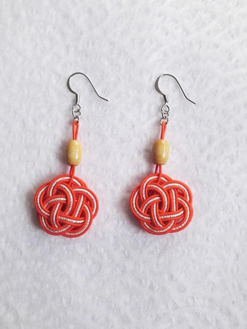 Mizuhiki-orangek-earrings-silver-hooks-3