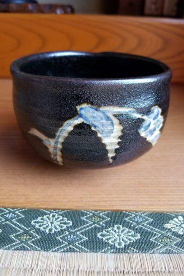 Japanese authentic matcha bowl black