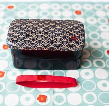 Ocean wave Japanese style bento box 1