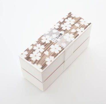 Sakura Mokume Two Tier Bento box