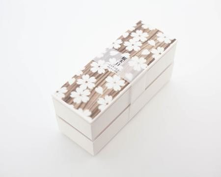 Sakura Mokume Two Tier Bento box