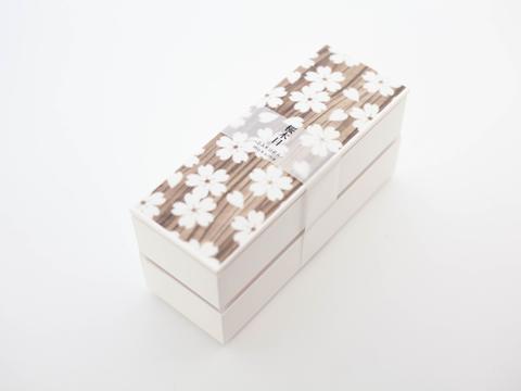 Sakura Mokume Two Tier Bento box 1