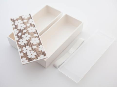 Sakura Mokume Two Tier Bento box 5