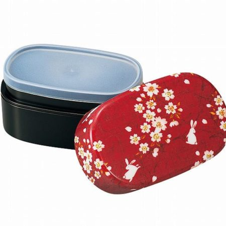 Sakura bunny red bento box