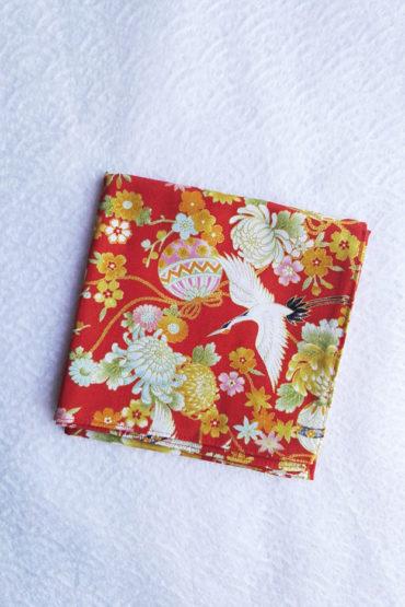 Furoshiki-red-Crane