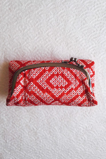 Japanese-pouch-Shibori-Red