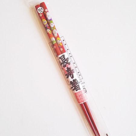 Japanese-long-life-chopsticks red