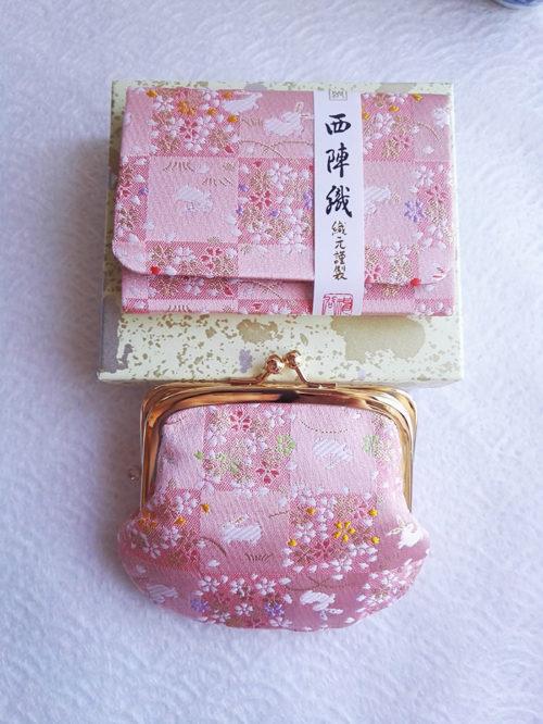 Kimono-wallet-(big)-&-Card-case-Pink-Bunny-2