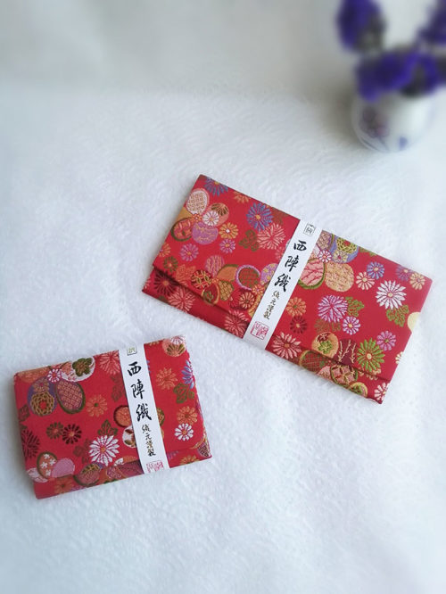 Kimono-wallet-(long)-&-card-case-Red-traditional