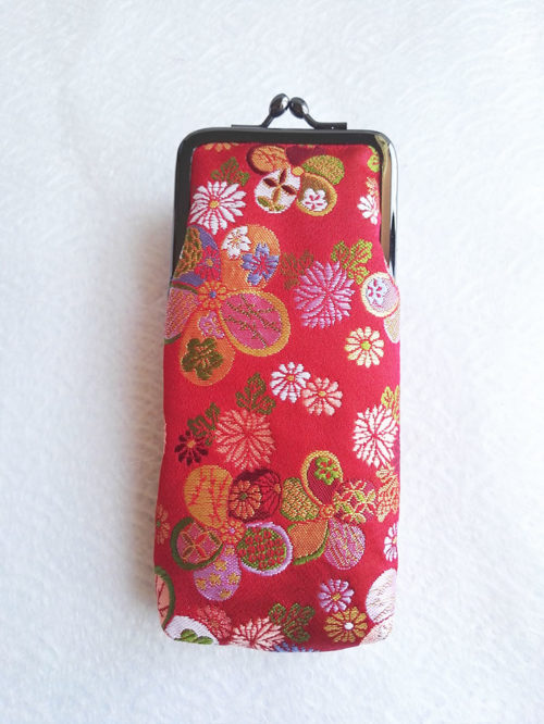 Nishijin-Glasses-case-Red-Traditional-1