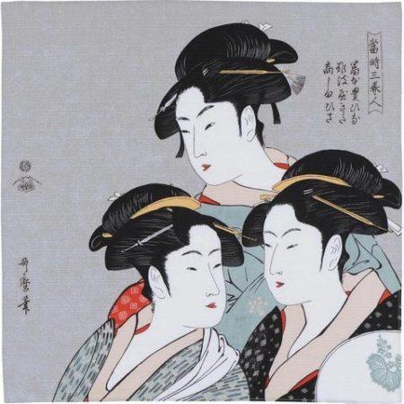 48cm Ukiyo-e Three Beauties Of The Present Day Gray 1