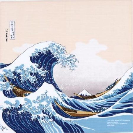 48cm Ukiyo-e Under The Wave Off Kanagawa Beige