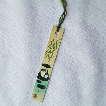 Bamboo-bookmark-Frog-1