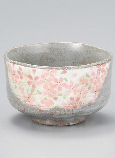 Japanese Authentic Matcha Bowl Grey Sakura