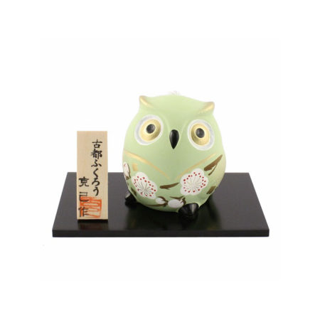 Japanese-owl-pottery-bell-Midor