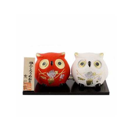 Japanese-owls-pottery-bell-Newly-weds