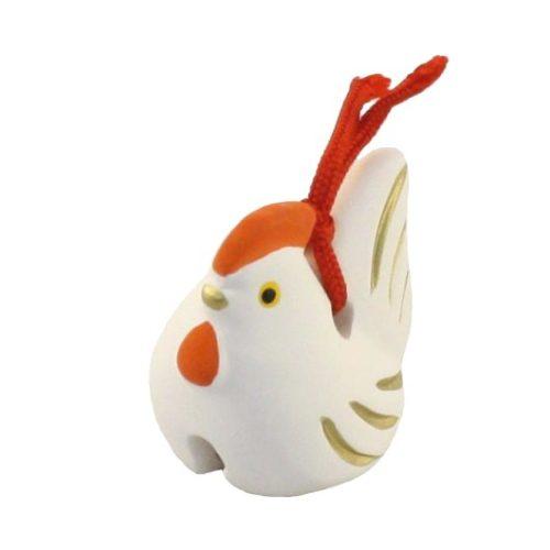 Japanese zodiac sign pottery bell chicken 1