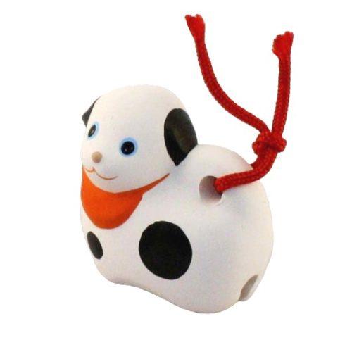 Japanese zodiac sign pottery bell dog 1