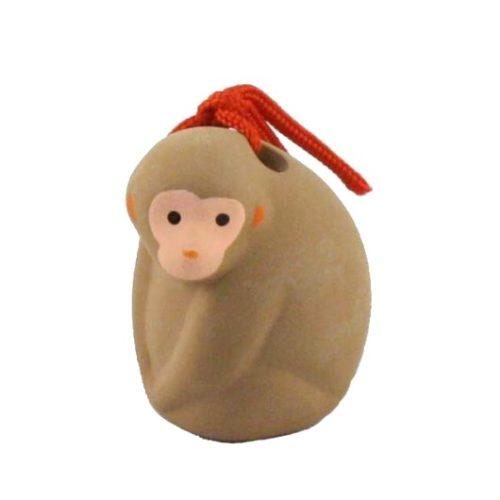 Japanese zodiac sign pottery bell monkey 2