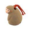 Japanese zodiac sign pottery bell monkey 3