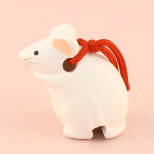 Japanese zodiac sign pottery bell rat 2
