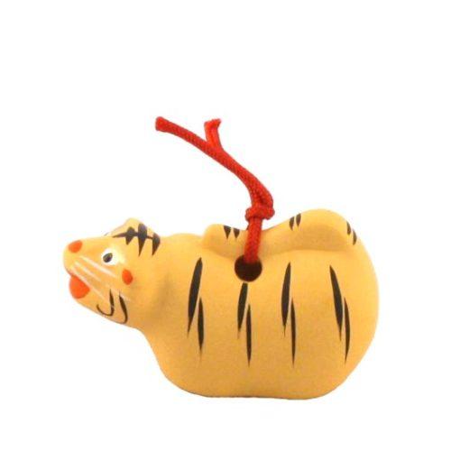 Japanese zodiac sign pottery bell tiger 2