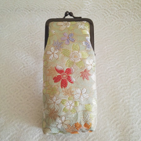 Nishijin-Glasses-case-Light-green