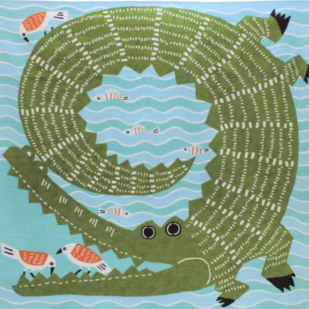 104cm Furoshiki Kata Kata Musubi Crocodile